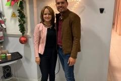 Josué Sanher y esposa